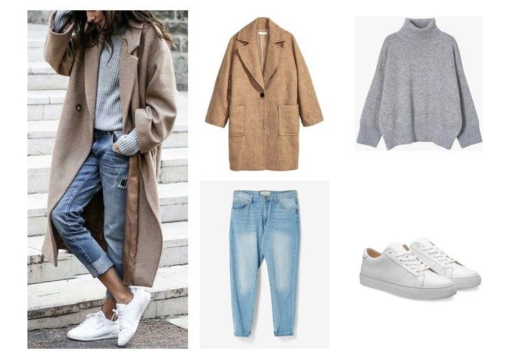 Mix sports shoes with jackets