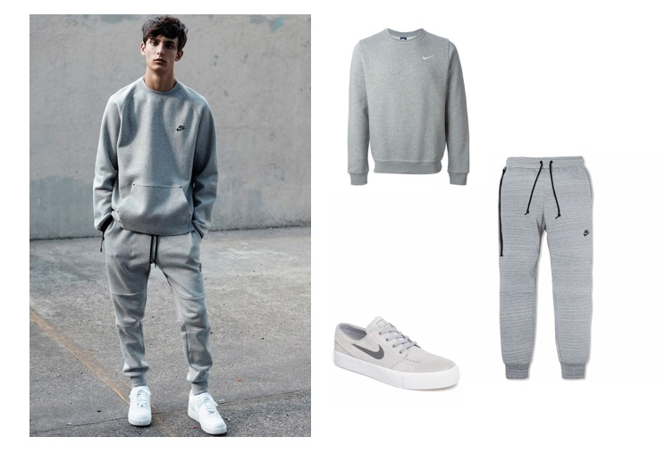 Mix sports shoes with jogger pants